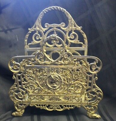 Large 19th Century Bradley & Hubbard Cast Iron with Brass Finish Letter Holder