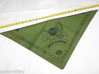 Harley Davidson Motorcycles Salutes The Military Eagle Head Wrap Bandana Scarf