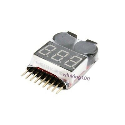 1S-8S For RC Lipo Battery LED Voltage Indicator Low Voltage Alarm Buzzer Tester