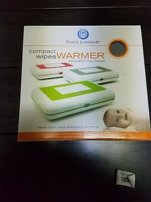 Prince Lionheart Compact Travel Wipes Warmer White and Grey NIB