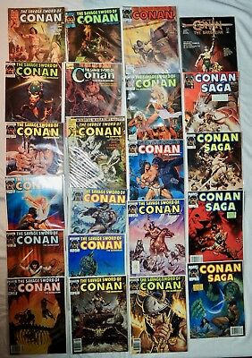 Lot of 22 Conan the Barbarian, The Savage Sword Vintage Comics 29, 52, 54, 57 ++