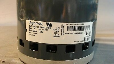 Lennox 3/4H Part No. 81W37 Genteq model 5SME39NX L064A, 115VAC, 1050RPM