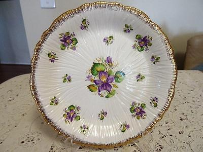 Crown Ducal Violets 1940S Large Plate