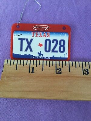 Texas Lonestar state miniature Christmas tree license plate ornament