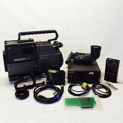 Sony 3CCD TV Broadcast BVP-701S Color Video Camera Remote RM-P3 Playback Adapter