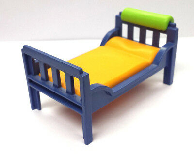 playmobil bett kinderbett blau orange gr n schlafzimmer. Black Bedroom Furniture Sets. Home Design Ideas