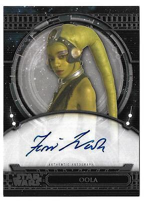 2017 Topps Star Wars 40th Anniversary Autograph Femi Taylor as Oola
