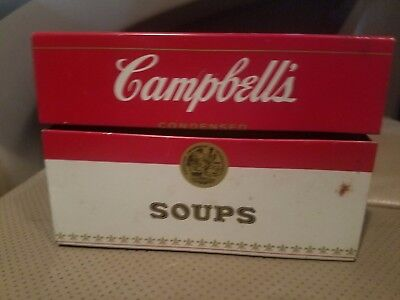 Campbells Recipe Soup Box Tin & Recipe Cards Makes Everything M'm M'm Better