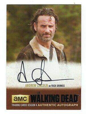 2016 The Walking Dead Season 4 Part 2 Autograph AL3 Andrew Lincoln  Black FOIL