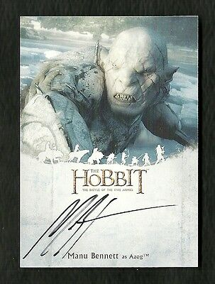 The Hobbit The Battle of the Five Armies Autograph MANU BENNETT as Azog