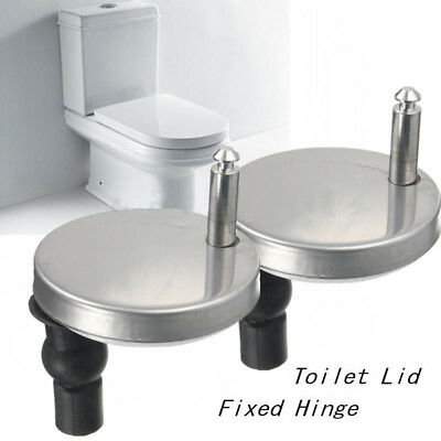 1 Pair Top Fix WC Toilet Seat Hinges Fittings Quick Release Hinge Replacement