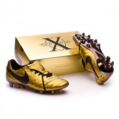hot sale online 4c5f9 dc707 NEW NIKE TIEMPO Legend VI Totti X Roma Gold - Soccer Cleats Superfly Vapor  VII