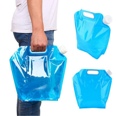 5L/10L Foldable Water Storage Bottle Collapsible Bag Container Carrier Camping