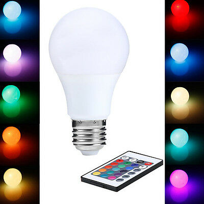 E27 Farbwechsel Glühbirne RGB Lichterkette15W Dimmable Remote Control LED Lampe.