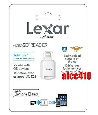 Lexar Micro SD SDHC SDXC to Lightning Card Reader for iOS Device AU