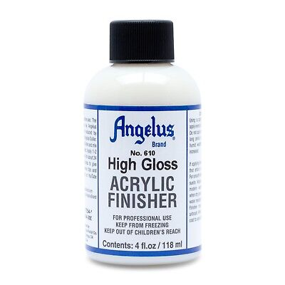 Angelus High Gloss Acrylic Finisher in 4 oz bottle 610