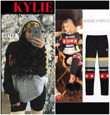 6c9e6600ee New Adidas Originals x Rita Ora Track Pants BANNED FROM NORMAL Sport XS S  Black