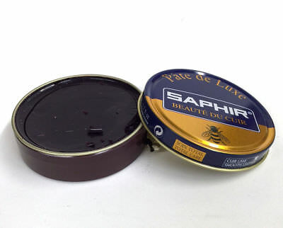 Saphir Shoe Polish WAX - Pate De Luxe - 50 Ml - Made in France BURGUNDY