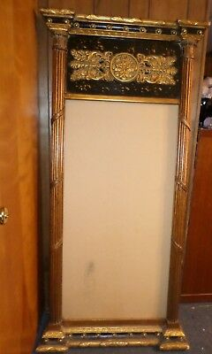 "Vintage Hall Pier Mirror Frame ONLY Gilt Hollywood Regency style  69"" h by 32"" w"