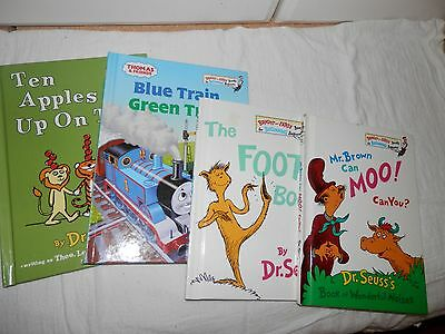 Dr. Seuss Book Lot Ten Apples Up On Top Foot Book Mr. Brown Can Moo Blue Train
