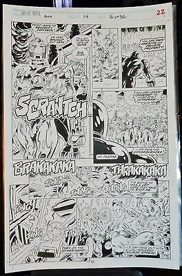 Iron Man Ann #14 Pg. #22 1993 Original Comic Art-Tom Morgan-Action-Packed Battle