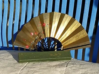 Two sided Japanese traditional dance fan, vintage