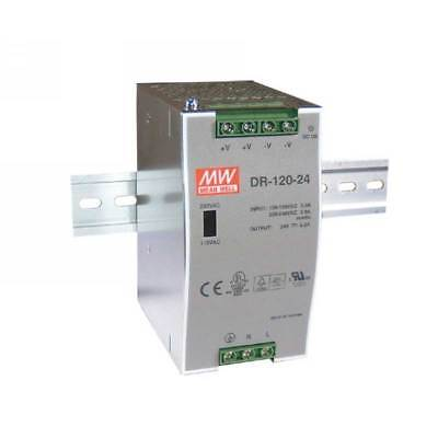 DR-120-24 Mean Well Din Rail Power Supply 24V 5A 120W
