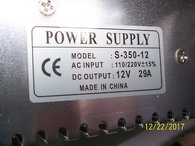 S-350-12 Power Supply 12V 29A 350W- GREAT PRICE! FREE SHIPPING - USA SELLER