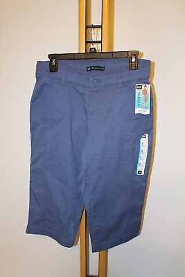 8f79bdee LEE WOMEN'S SIZE 6 M Blue Capri Pants Skimmer NWT NEW Relaxed Fit ...