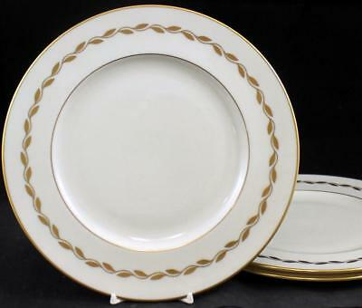 Lenox China GOLDEN WREATH 3 Luncheon Plates 0313 GREAT CONDITION