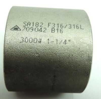 """Stainless Steel 316/316L Forged Pipe Fitting Half Coupling Socket Weld 1-1/4"""""""