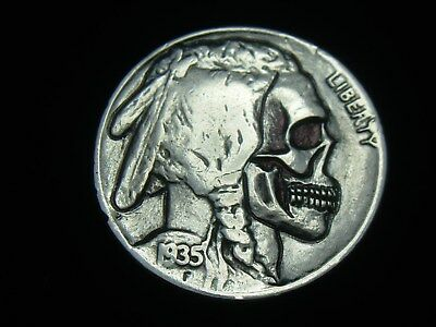 1935-P Hobo Nickel - Indian Skull