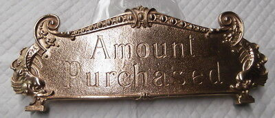 Small 300 Class Amount Purchased Top Sign Red Brass Yellow Or Nickel