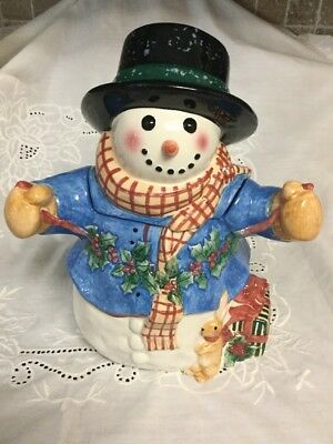 Snow Friends Collection 2000 Cookie Jar Susan Winget NIB Holiday