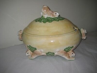Jay Willfred Rabbit Soup Tureen-fine china, new perfect condition