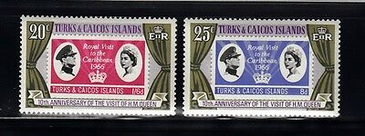 Vt8A Turks & Caicos Islands #315-316 Stamps - Mint Og Nh 1966