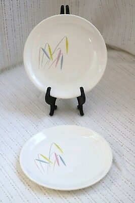 Paden City PCP279 Preview Bone Ash Mid Century Modern Bread & Butter Plates (2)
