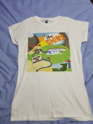 Euc The Shins Women's Ladies Fitted Small T-Shirt Rock White Free Shipping