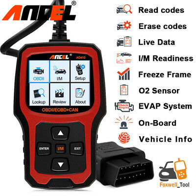 OBDII Auto Scanner Check Engine Light I/M Readiness Automotive Code Reader AD410