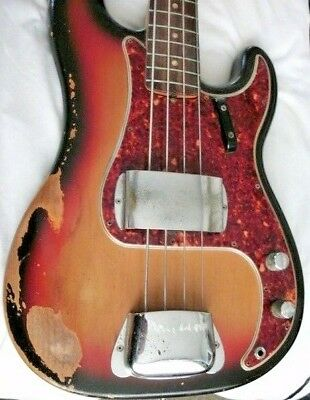 1966 Fender Precision Bass And Original Hard Case Superb Don't Miss This