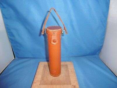 Vintage Train Railroad Conductor, Police Whistle Germany w/ Leather Case
