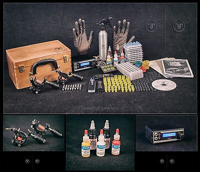 Tattoo Kit Sets full pro Power supply professional Christmast USA INK MACHINES