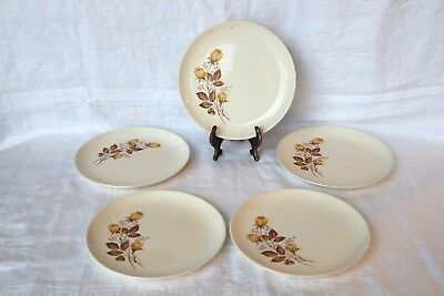 Taylor Smith & Taylor TS&T Yellow Rose Buds USA Versatile Salad Plates (5)
