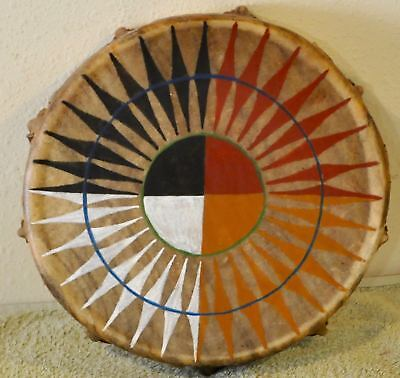 Medicine Wheel Power/Native American Drum,Painted By Artist Sonja Holy Eagle