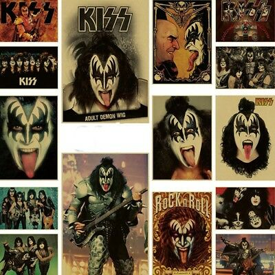 Kiss Rock Music Poster Star Band Decorative Painting Bar Dormitory Decorative