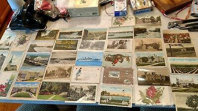 Vintage lot of postcards ~ 38 Random Postcards from the 1950 to '70s - Historic