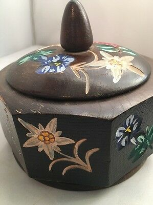 Vintage Floral Wooden Reuge Innsbruck Jewelry Music Box Swiss Movement B8