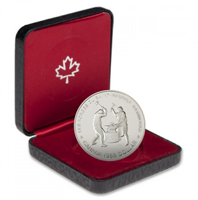 1988 Canadian Proof Silver Dollar - 250Th Ann. Of Saint-Maurice Ironworks
