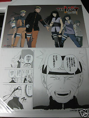 Sdcc Manga Replica Naruto 120/350 Nycc Viz Media + Naruto The Last Movie Print