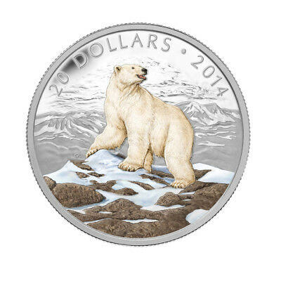 2014 $20 Fine Silver Coin Iconic Polar Bear